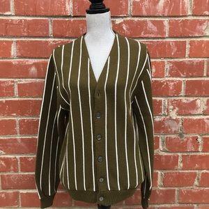 Vintage Olive Green Cardigan